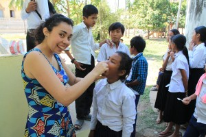 Dental care at Thmor kohl school.
